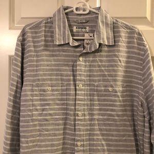 Express Shirts - NWT Express Men's Long Sleeve Woven Shirt